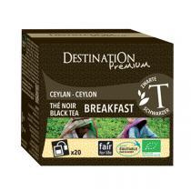 Destination - Breakfast Thé Noir Bio 20 sachets