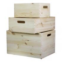 Europe et Nature - Set de 3 boîtes empilables Kairus en bois
