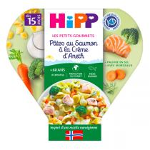 HiPP - Pâtes au Saumon à la Crème d'Aneth assiette 250g