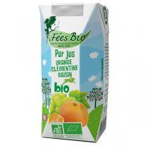 Les Fées bio - Pur Jus d'Orange Clémentine Raisin Bio 20cl