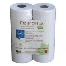 PAPECO - Papier toilette blanc recyclé 6 rouleaux de 400 feuilles