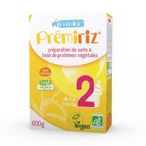 Prémibio® - Prémiriz 2ème âge bio - protéines végétales 600g