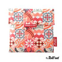 Roll'eat - Sac à goûter Snack'n'Go Patchwork Orange