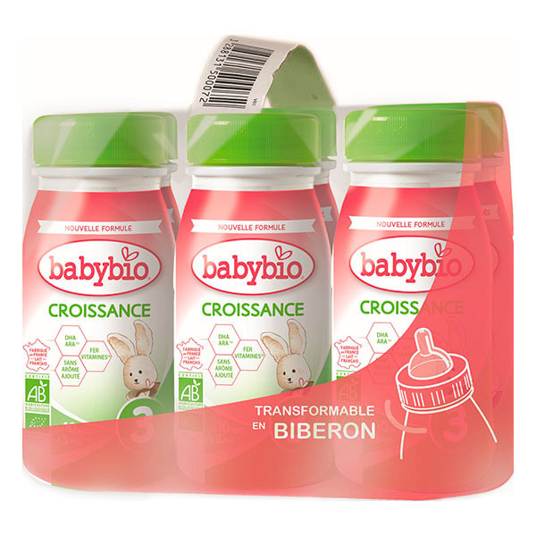 Babybio - Lait de Croissance a partir de 10 mois 6x25cl