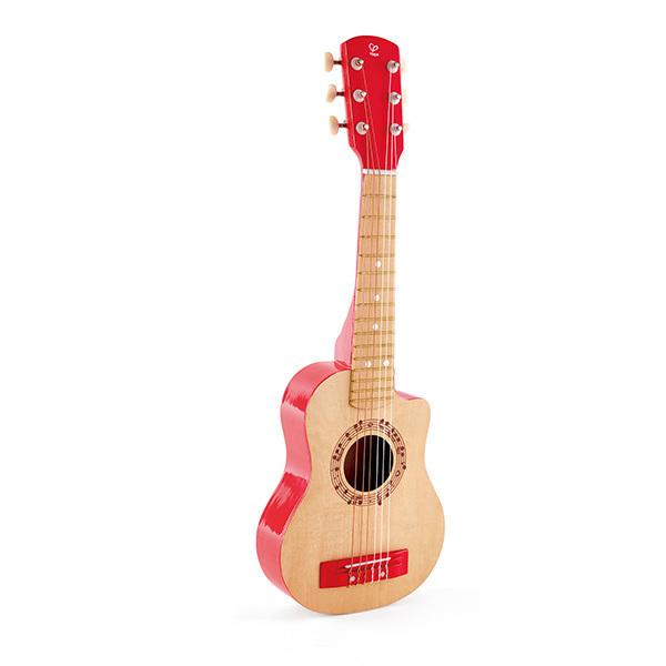 Hape - Guitare rouge vif - Des 3 ans