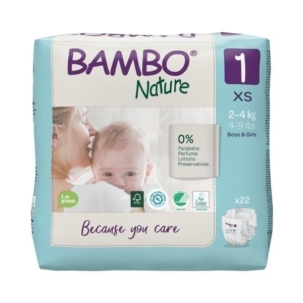 Bambo Nature - 22 couches écologiques T1 XS 2-4 kg