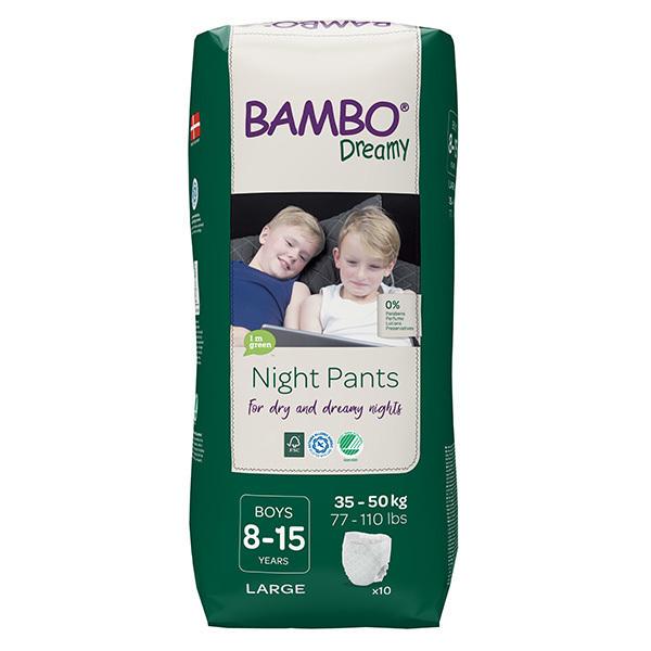 Bambo Nature - 10 culottes d'apprentissage Nuit Garçon 8-15 ans TL 35-50kg