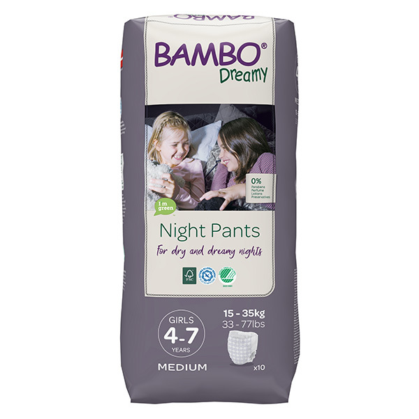Bambo Nature - Pack 8x10 culottes d'apprentissage Nuit Fille 4-7 ans TM