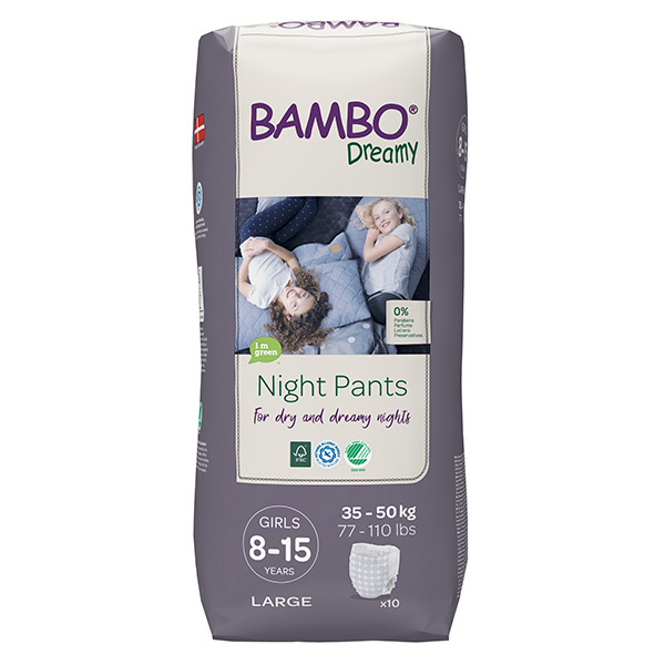 Bambo Nature - Pack 4x10 culottes d'apprentissage Nuit Fille TL 8-15 an