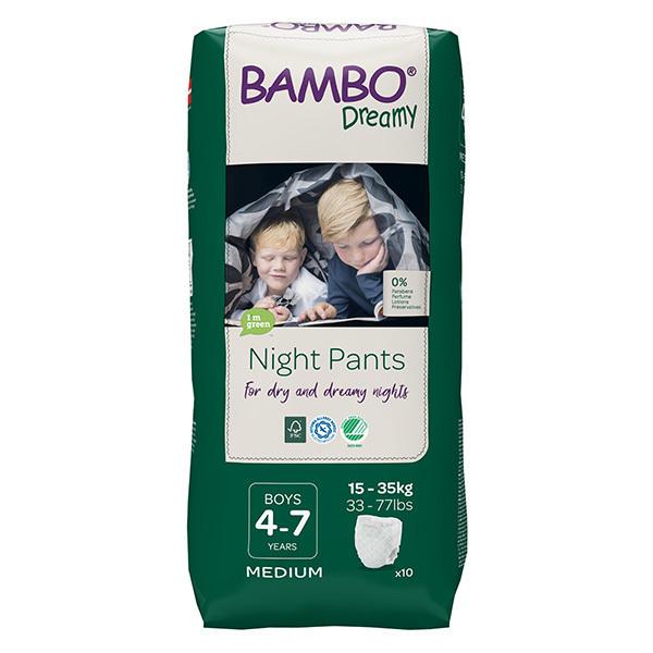 Bambo Nature - Pack 8x10 culottes d'apprentissage Nuit Garçon 4-7 ans TM