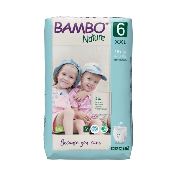Bambo Nature - Pack 4 x 18 culottes d'apprentissage T6 XXL 18+kg
