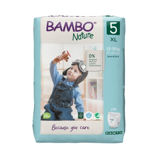 Bambo Nature - Pack 4x19 culottes d'apprentissage T5 XL 12-18kg