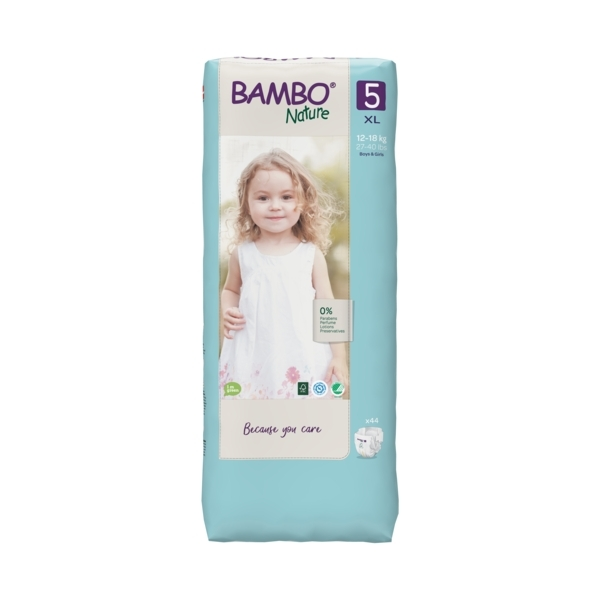 Bambo Nature - Pack 8x44 couches écologiques Jumbo T5 XL 12-18kg