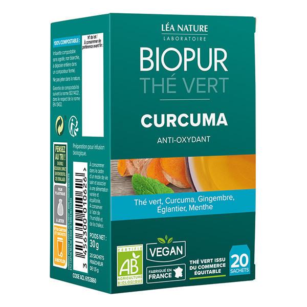 Biopur - Thé vert Curcuma Antioxydant 20 sachets