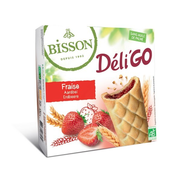 Bisson - Biscuits DéliGo fourrés à la fraise 150g