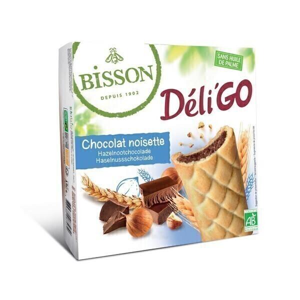Bisson - Biscuits DéliGo fourrés chocolat noisettes 150g