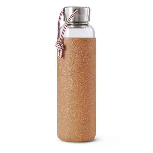 Black & Blum - Bouteille en verre avec bouchon inox 60cl Almond