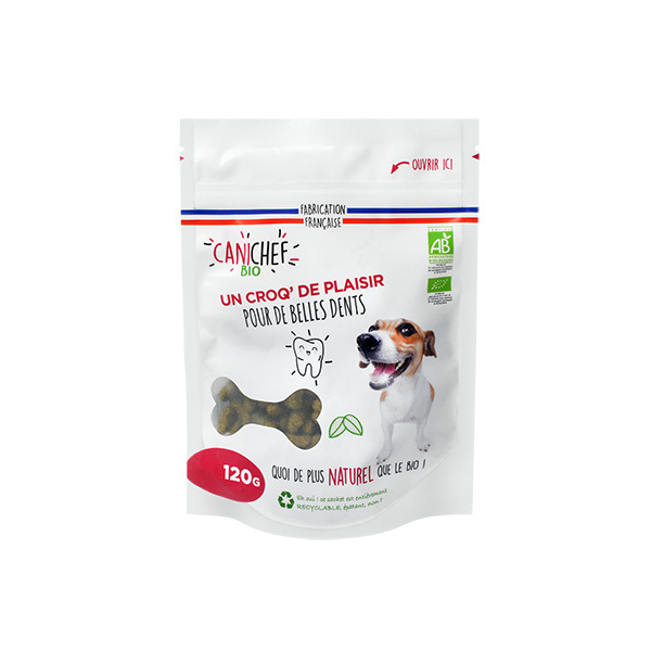 Canichef - Friandises bio Hygiène bucco dentaire chien 120g