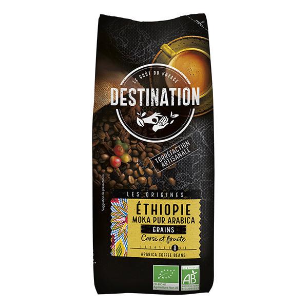 Destination - Ethiopie Moka Pur Arabica Café en Grains Bio 500g