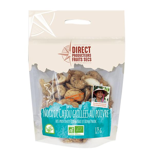 Pépite - Noix de cajou du Vietnam grillées au poivre 125g