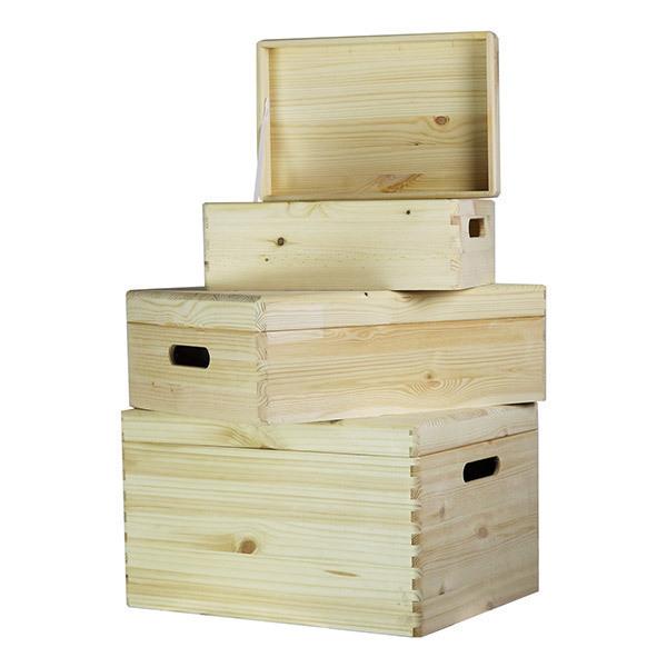 Set De 3 Boites De Rangement Boxy En Bois Europe Et Nature