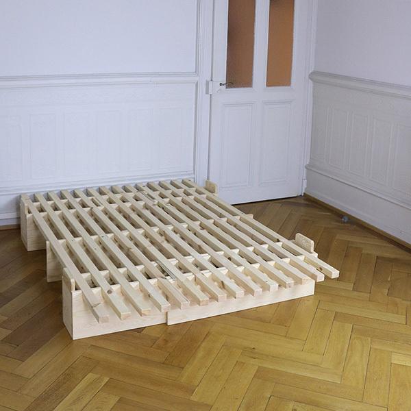 Lit Everlasting en bois 160 x 190 200cm