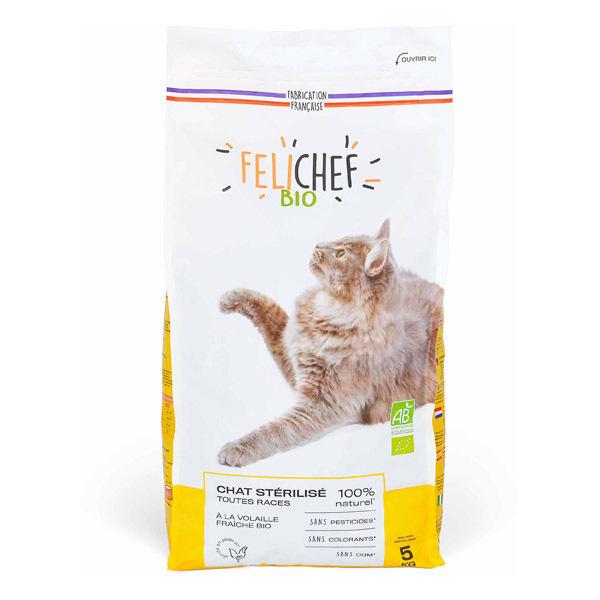 Felichef - Croquettes pour chat stérilisé Volaille 5kg