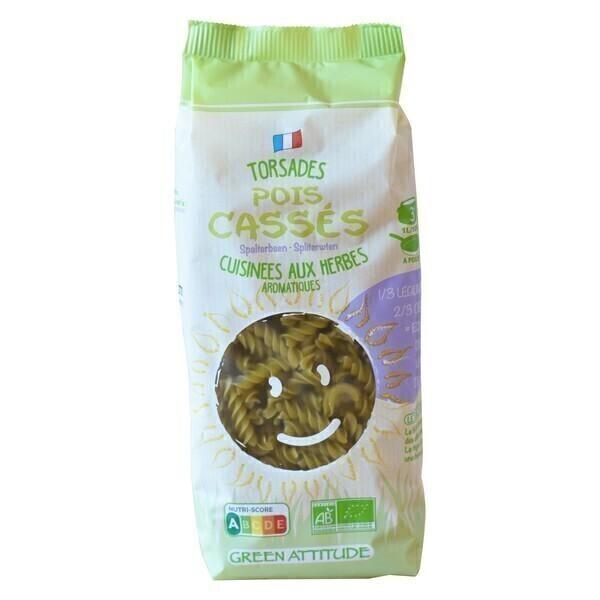 Green Attitude - Torsades blé dur et pois cassés 250g