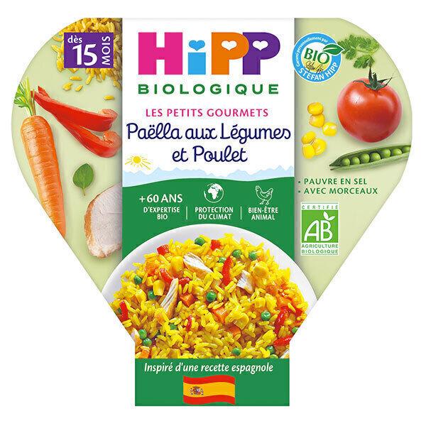 HiPP - Paëlla aux Légumes et Poulet assiette 250g
