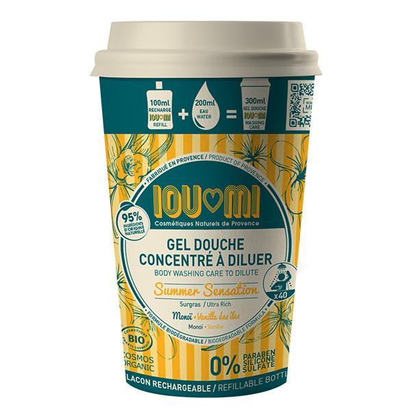 IOUMI - Gel douche concentré à diluer Vanille & Huile de Monoï 100ml
