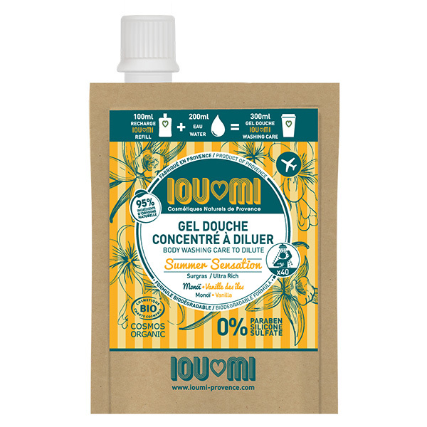 IOUMI - Recharge gel douche Vanille & Huile de Monoï 100ml