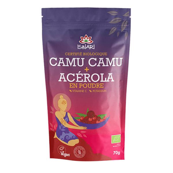 Iswari - Camu camu + Acérola en poudre - Sachet de 70g