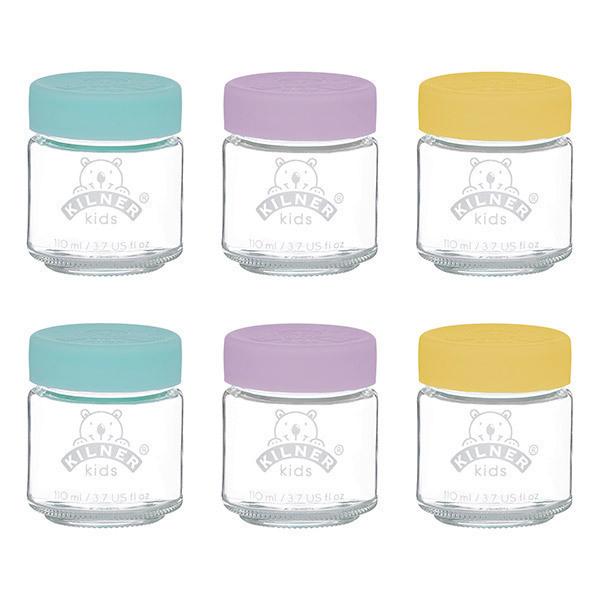 Kilner - Set de 6 petits pots en verre pour bébé 110ml