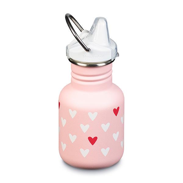 Klean Kanteen - Gourde enfant Sippy cap Coeur rose 35,5cl