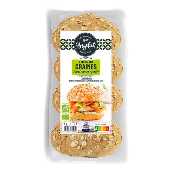 L'Angélus - Buns aux graines sans sucres ajoutés 4 x 50 g