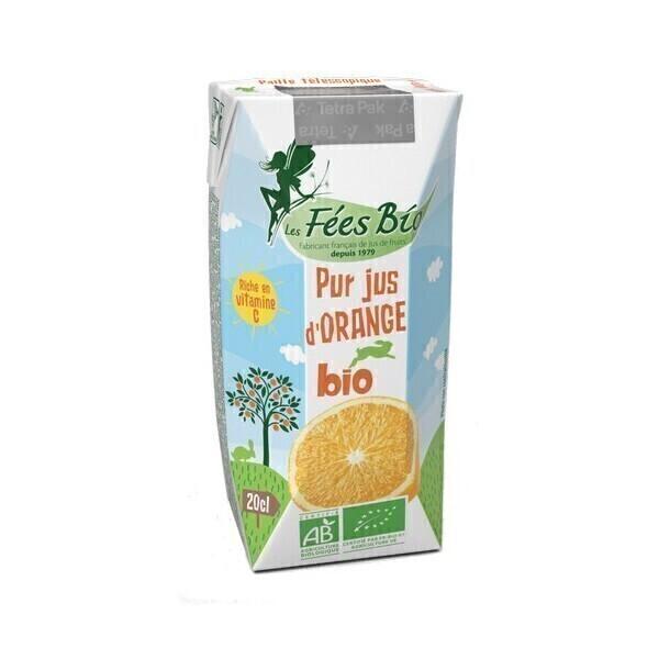 Les Fées bio - Pur Jus d'Orange Bio 20 cl