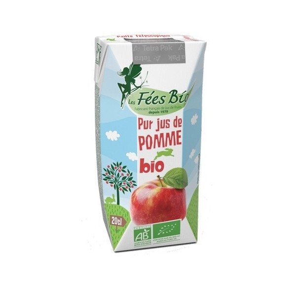 Les Fées bio - Pur Jus de Pomme Bio 20cl