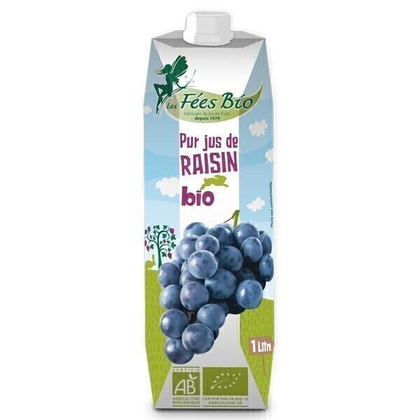 Les Fées bio - Pur Jus de Raisin Rouge Bio 1L
