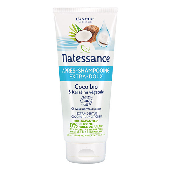 Natessance - Après-shampooing Extra-doux - Coco Bio & Kératine végétale