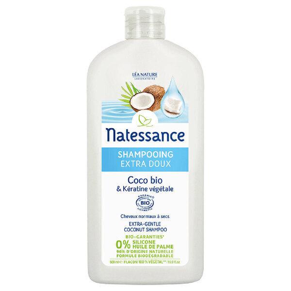 Natessance - Shampooing Extra-doux - Coco Bio & Kératine végétale