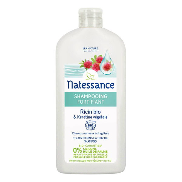 Natessance - Shampooing fortifiant - Ricin Bio & Kératine végétale