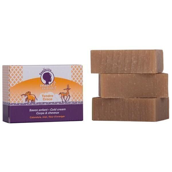 NOIREÔNATUREL - Savon enfant Cold Cream Tendre Croco 100g