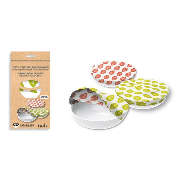 Nuts - Set de 3 recouvre-bols assortis en coton bio