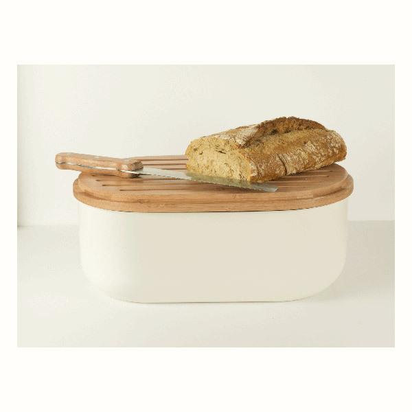 Pebbly - Set boîte à pain 3 en 1 avec couteau