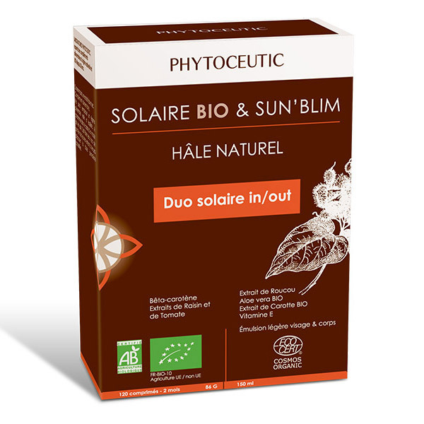 Phytoceutic - Duo Solaire: autobronzant & préparateur solaire bio