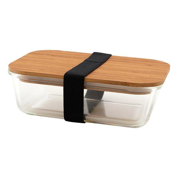 Point Virgule - Boîte à lunch en verre et bambou 1,1L