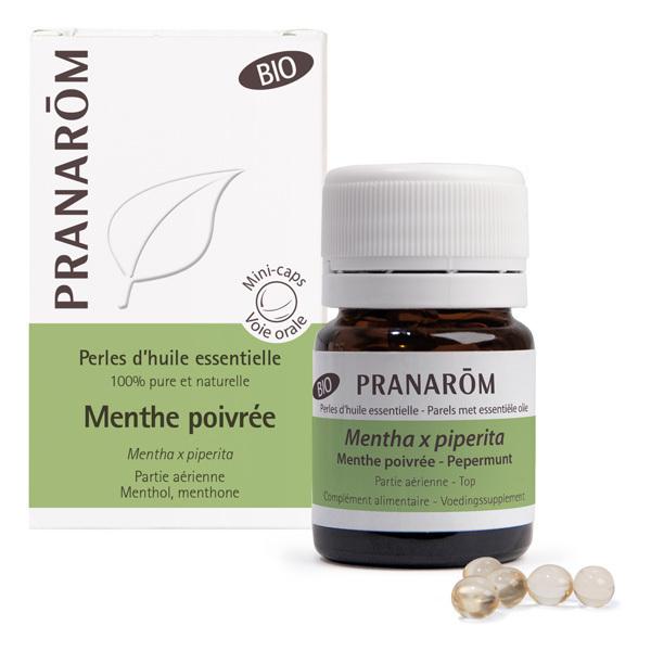 Pranarôm - Huile essentielle de Menthe poivrée Partie aérienne 60 perles