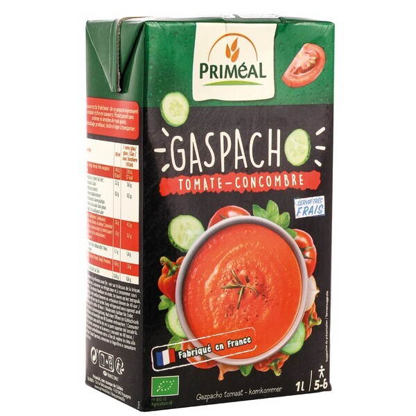 Priméal - Gaspacho tomate concombre 1L
