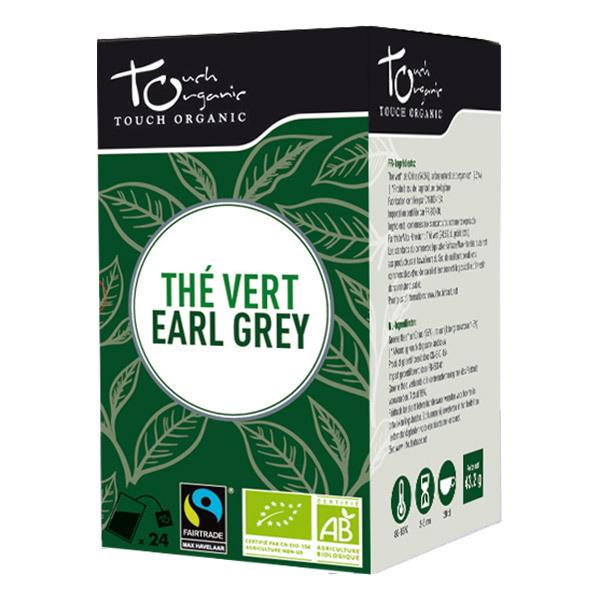 Touch Organic - Thé Vert Earl Grey 24 sachets