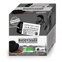 Biodyssée - Capsules compatibles Dolce Gusto - 100% arabica Puissant x15